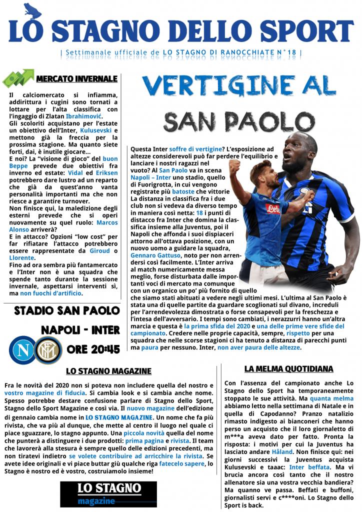 Lo Stagno dello Sport - Il settimanale ufficiale di Ranocchiate 9 Ranocchiate