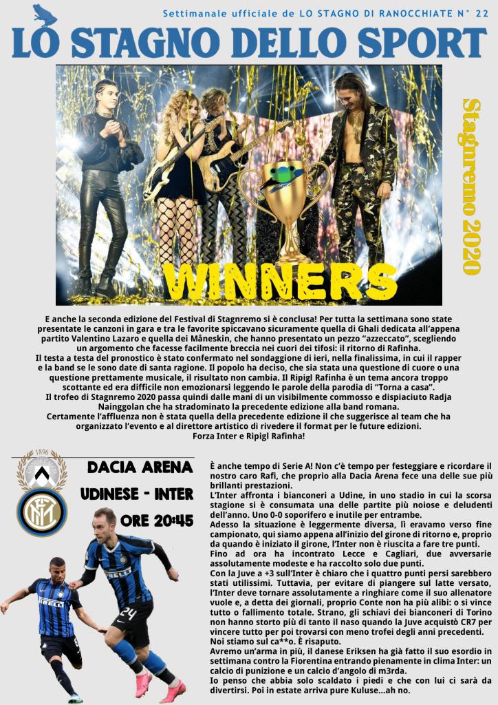 Lo Stagno dello Sport - Il settimanale ufficiale di Ranocchiate 5 Ranocchiate