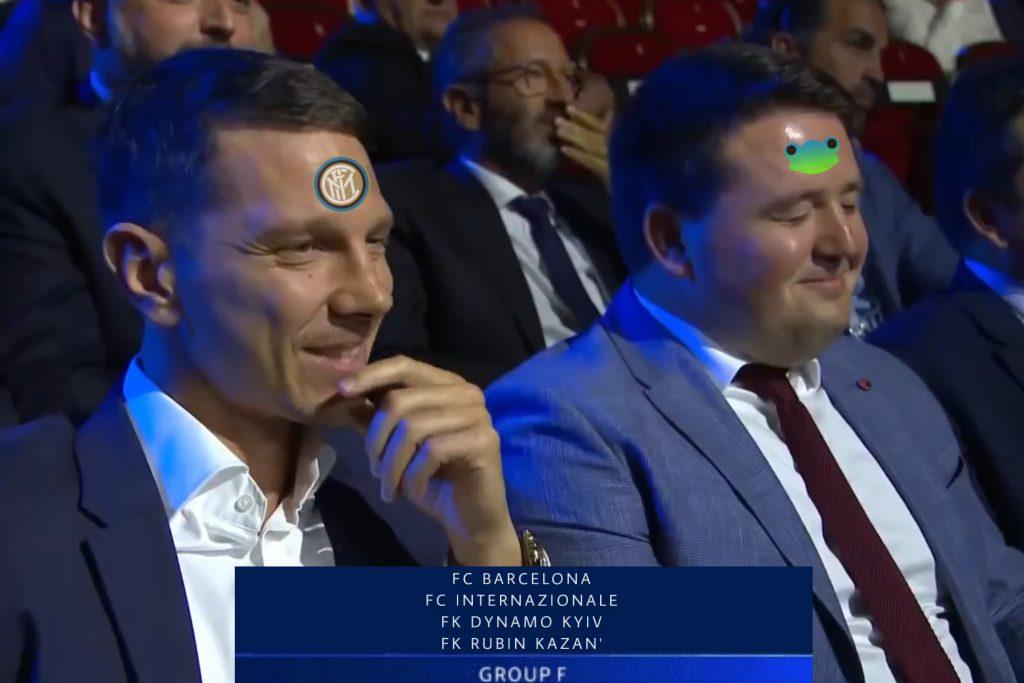 Reazione composta e per nulla preoccupata dell'Inter e dei suoi tifosi scoperte le squadre che dovranno affrontare.