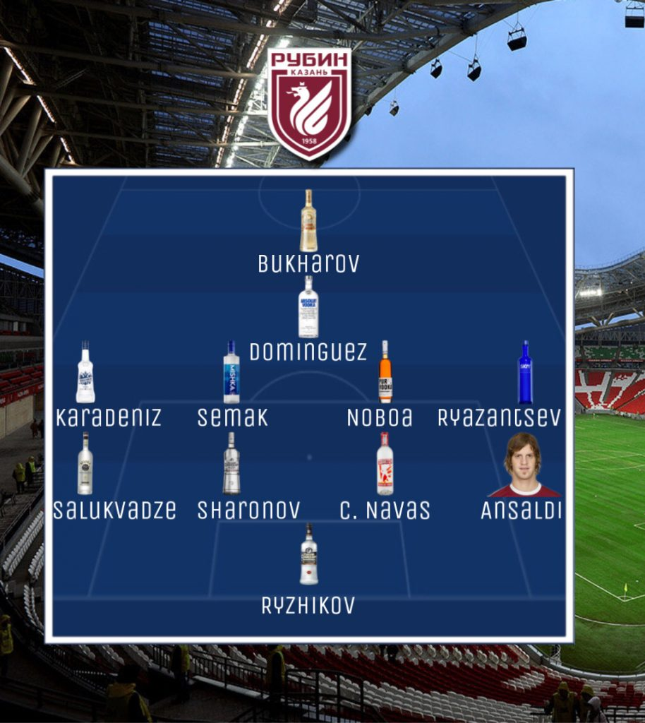 Rubin Kazan-Inter, la campagna di Russia 3 Ranocchiate