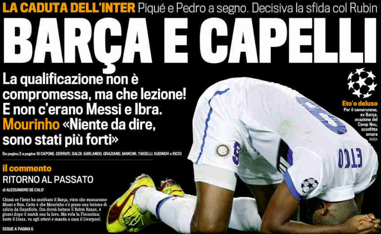 Barcelona-Inter: la strategia segreta di Mourinho 3 Ranocchiate