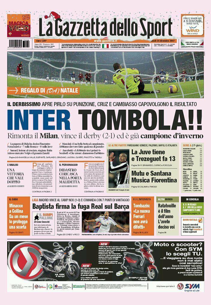 Milan - Inter: il Derby in 5 istantanee 4 Ranocchiate