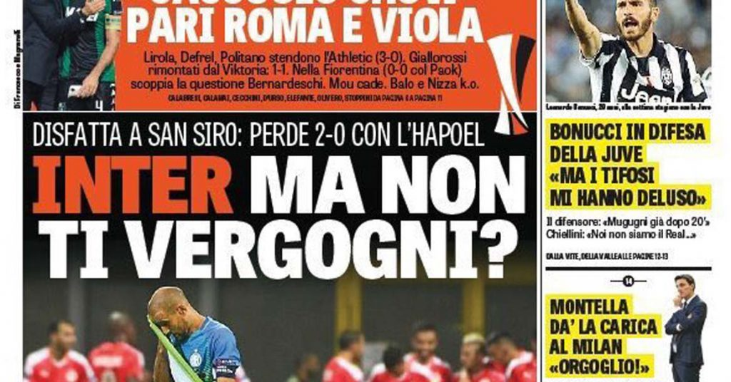 Inter - Atalanta, il prepartita rancoroso 3 Ranocchiate